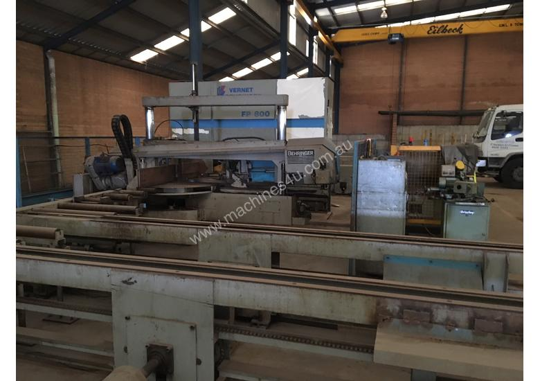 Used Vernet Behringer Beam Line Drill and Saw