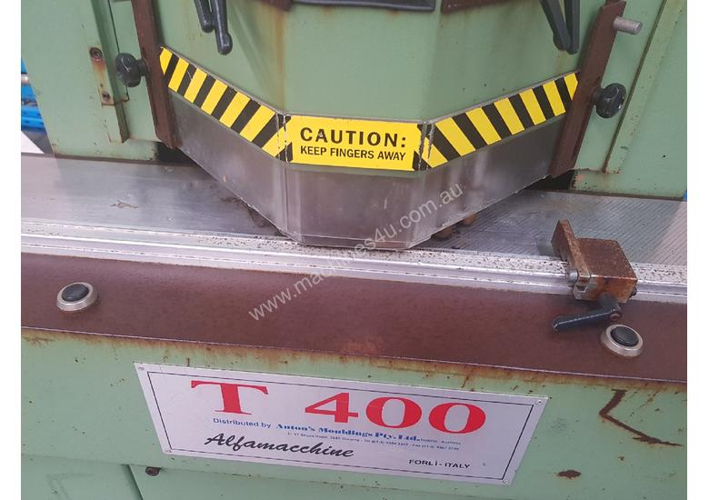 TWIN MITRE SAW Alfamacchine T 400, Made in Italy, Suit Picture Framing, Aluminium, Flyscreens $1,800