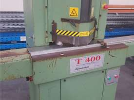 TWIN MITRE SAW Alfamacchine T 400, Made in Italy, Suit Picture Framing, Aluminium, Flyscreens $1,800 - picture4' - Click to enlarge