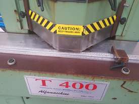 TWIN MITRE SAW Alfamacchine T 400, Made in Italy, Suit Picture Framing, Aluminium, Flyscreens $2,420 - picture6' - Click to enlarge