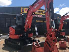 For Dry Hire Near New Kubota U55-4 Excavator with Power Tilting Head, Buckets & Ripper, Air Cond Cab - picture1' - Click to enlarge