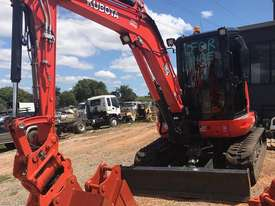 For Dry Hire Near New Kubota U55-4 Excavator with Power Tilting Head, Buckets & Ripper, Air Cond Cab - picture2' - Click to enlarge
