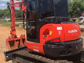 For Dry Hire Near New Kubota U55-4 Excavator with Power Tilting Head, Buckets & Ripper, Air Cond Cab - picture3' - Click to enlarge