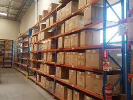 Used 3.6m High Long Span Racking Shelving With Boards 3600 x 600 - picture0' - Click to enlarge