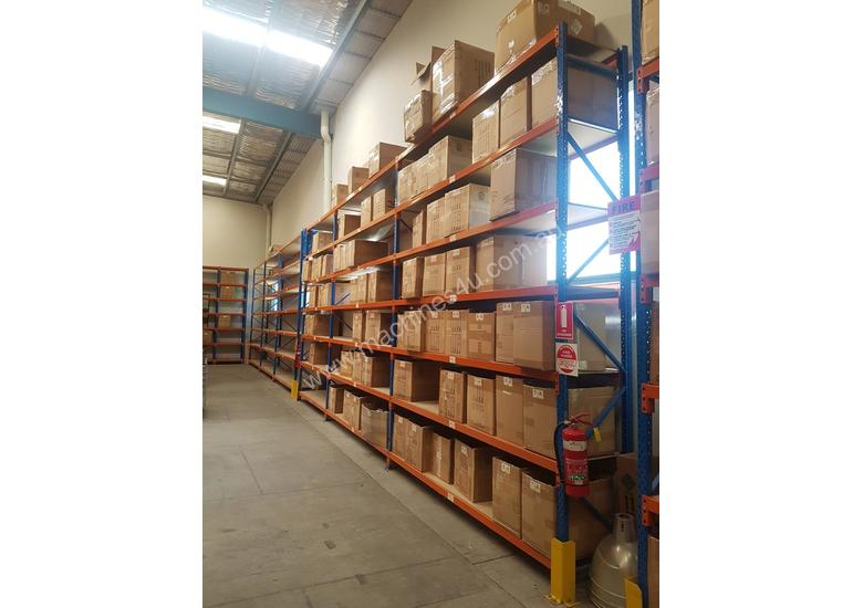 Used 3.6m High Long Span Racking Shelving With Boards 3600 x 600