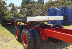 40' SLIDE ADJUSTING BOGIE AXLE TRAILER ( DOLLY NOT INCLUDED)