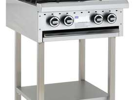 4 Burner Cooktop with legs & shelf - picture0' - Click to enlarge