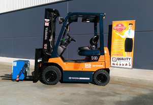 Toyota Business Class 1.8 Tonne Battery Electric Counterbalance Forklift in great condition. Sydney.