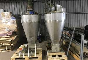 Hopper with with mixing blades and weight scale x 2 $500.00 each