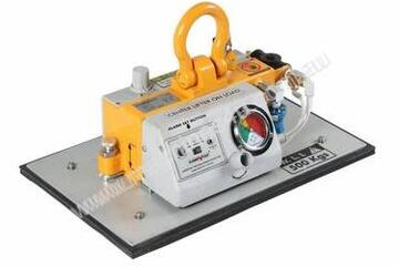 Vacuum Lifter Handy, air operated with quick change pads of different sizes for lifting stone etc.