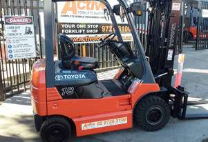 Toyota Electric Forklift Container Entry Mast 1.8 Ton 4.3m Lift Solid Tyres Good Second Hand Battery