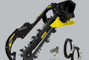 Digga Mini Loader Bigfoot Trencher 900mm with 150mm Combo Chain