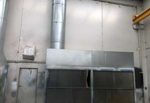 2 large spray booth extraction walls