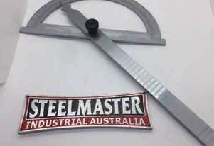 Steel Angle Protractor. 0 ~ 180 Degrees.