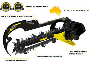 New Digga Mini Loader Bigfoot Trencher Combo Chain 100mm-200mm