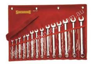 SIDCHROME Spanner Set Met 14Piece O/Ring