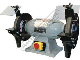 BG-8 Industrial Bench Grinder Ø200mm Fine & Coarse Wheels 0.75kW - 1HP Motor Power - picture0' - Click to enlarge