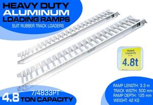 Ramps 4.8 Ton Aluminium Loading Ramps 500 mm WIDE