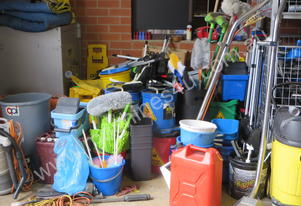 LARGE QUANTITY OF CLEANING EQUIPMENT