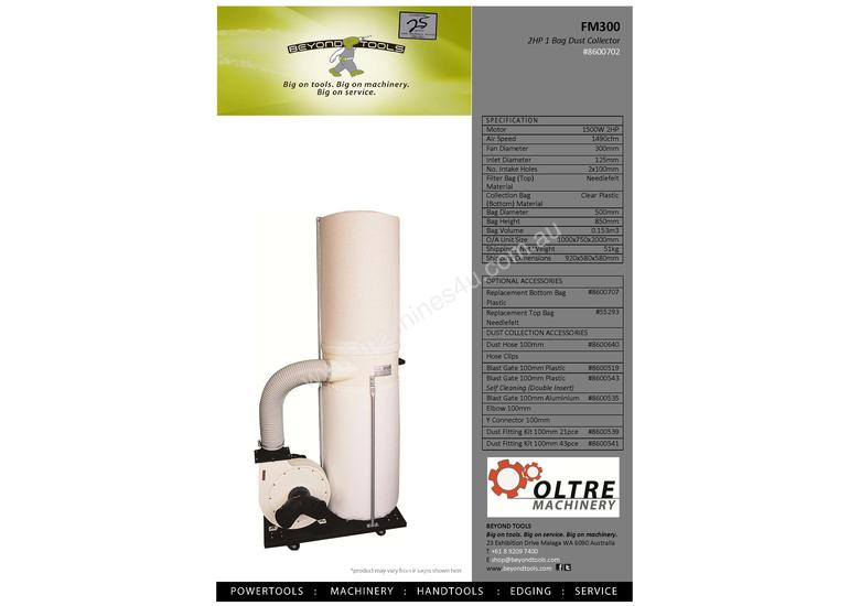 Oltre FM300 Needle Felt Dust Collector