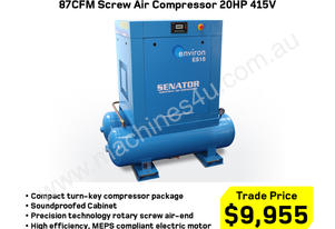 87CFM Electric Screw Air Compressor 15HP 415V