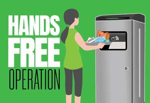 ORWAK 'TOM' Hands Free Waste Compactor Bin for Public Spaces | Indoor
