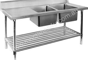 F.E.D. DSBD7-1200R Right Inlet Double Sink Dishwasher Bench