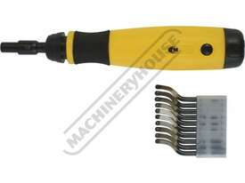 D060 Deburring Tool - Telescopic Shaft Includes 10 HSS Blades - picture0' - Click to enlarge