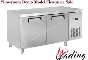 Stainless Steel Under Bench Fridge 2 Solid Doors
