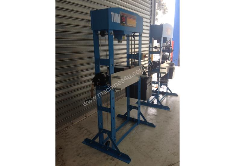 New twm Electric Hydraulic Shop Press 50 Ton Press & Stamp