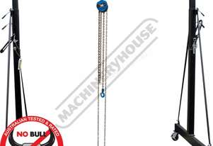 MGT-1TGC Mobile Girder Rail Package Deal 1 Tonne Includes 1T x 3M Chain Block & 1T Girder Clamp