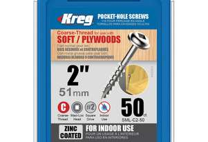 Kreg Pocket Screws 2 Coarse Thread - 50pc