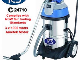TCS 80L Commercial Industrial Wet & Dry Vacuum Cleaner with 3 x 1000w Ametek Motors - picture0' - Click to enlarge