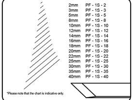 Pfeil Double Bevel Straight Skew - 40mm - #1S - picture2' - Click to enlarge
