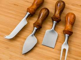 Rockler Four-Piece Cheese Knife Turning Kit - picture1' - Click to enlarge