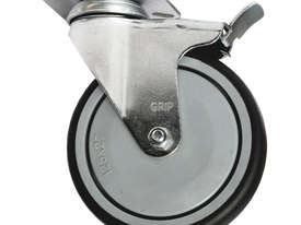42014 - GREY INSTITUTIONAL CASTOR WITH PP CORE (SWIVEL/BRAKE) - picture0' - Click to enlarge