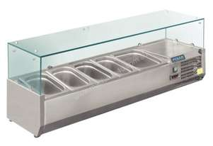 Polar Refrigerated Counter Top Prep/Servery 1200mm 3 x GN 1/3 & 1x1/2 GN