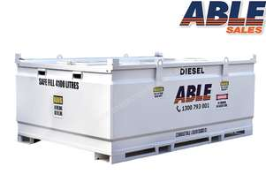 Able Fuel Cube Bunded 4500 Litre (Safe Fill 4100 Litre)