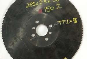 Cold Saw Blade HSS 255Ø x 2.5 x 38mm Bore 150T