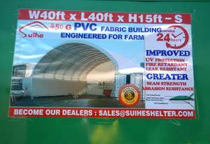 C4040S 12m x 12m x 4.5m Double Trussed Container Shelter - 6452-68