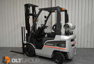 Used Nissan 1.8 Tonne Forklift Sideshift LPG 2 Stage Clear View Mast 3700mm Lift Height