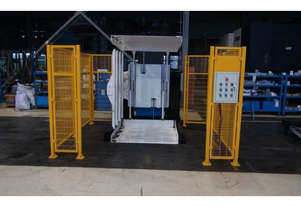 90 Degree Pallet Invertor with safety fencing 1500kg