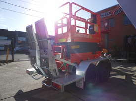 DINGLI E-TECH S06-E ELECTRIC SCISSOR LIFT AND TRAILER PACKAGE - picture2' - Click to enlarge
