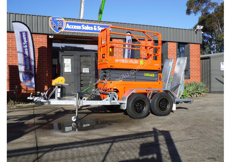 DINGLI E-TECH S06-E ELECTRIC SCISSOR LIFT AND TRAILER PACKAGE