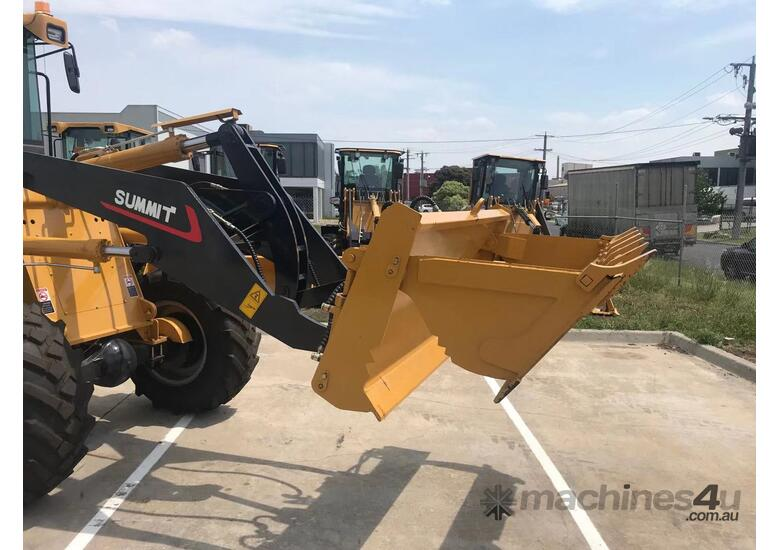 SUMMIT 828 120HP 6.5T Wheel Loader With 4 in 1 Bukcet, Fork & Spare Wheel