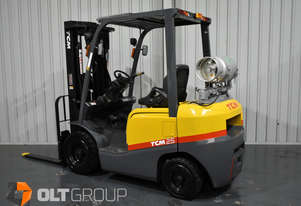 TCM FGE25T4 2.5 Tonne Forklift LPG EFI Container Mast 4800mm Lift Height 2371 Hours