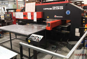 Used Amada Vipros 255 CNC Turret Punch Press. Very good condition. Inspect under power.