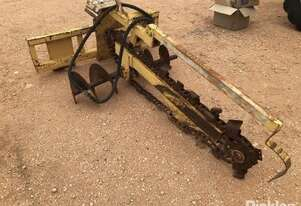 Hydra Power HT Chain Trencher, Yellow, Hydraulic Operation, With 330mm Auger