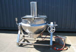 Stainless Steel Tilting Electric Jacketed Cooker Kettle Mixer - 300L