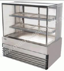 koldtech KTSQHCD9  900mm Square Glass Heated Displ